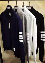 Automne-2016ss haute qualité neuf hommes mode sport décontracté thom manteaux tricotés marron femmes vestes vêtement d'extérieur 4 couleur taille M L XL TBCJOTX ? partir de fabricateur