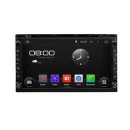 Wholesale Dvd Double Screen - NEW Klyde 6.95 inch universal Double 2 Din Android 4.4 Car DVD GPS 3G Wifi Bluetooth OBD Radio Stereo CD Player