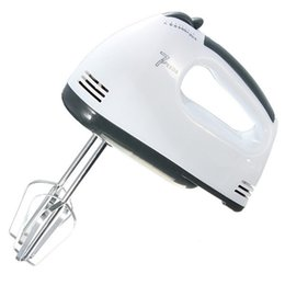 Wholesale Hand Beaters Kitchen - 180W Egg Beater Electric Mixer EU Plug 7 Speeds Hand Mixer With 4 Different Type Stirrer Kitchen tool cake baking free shipping