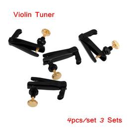 Violões profissionais on-line-Violino Afinador de Violino Afinador de Sino para 3/4 4/4 Tamanho Violino Profissional Violino Peças 4 pçs / set 3 Conjuntos