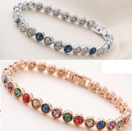 1PC High Quality Charm Austrian Zircon Bracelet Simple Design Made with  Swarovski Elements Multi-color and denim blue 2 colors for choices ededc20b8c