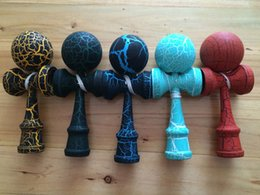 Wholesale Wood Toy Swords - 18.5CM Full Crack Kendama Ball Toy Smooth painting beech Wood Japanese Traditional Funny Sword ball Game Education Toy Christmas gift