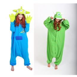 Wholesale One Piece Pajama Adult Onesie - Wholesale- 2015 Cos Animal Eeyore Donkey Mike One Eye Pajamas Party Pajama Adult Onesie Sleepwear One Piece Fleece Hooded S M L XL