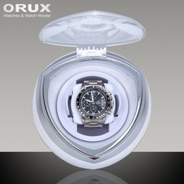 Wholesale Single Watch Display - Wholesale-ORUX New Arrival White Single Watch Winder for automatic watches watch box automatic winder storage display case box