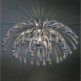 Wholesale Holder Ceiling - Wholesale-Contemporary Chrysanthemum Ceiling Light Modern Living room Bedroom Home Decoration Lighting E27 Lamp Holder ABS PC AC120-240V