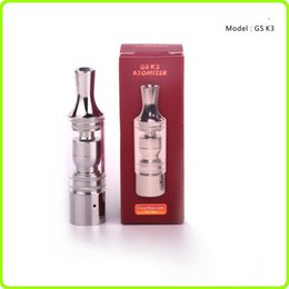 Wholesale Gs Dry Herb - 2015 New ecig GS K3 wax atomizer glass tank Dry Herb clearomizer vaporizer Metal Dip trip Detachable replacement Coil For Ego Battery E cig