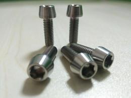 Argentina 5 piezas de titanio tornillos M6 x 18 mm cabeza cónica cabeza cónica Suministro