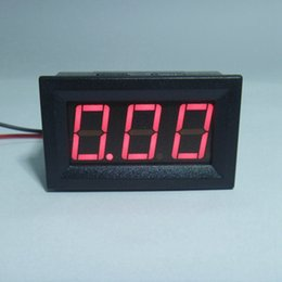 Wholesale power supply current display - 20 PCS LOT Mini Ammeter DC 0-9.99A Current Ampere Panel Meter Digital Ammeter Power Supply DC4.5-28V With Red LED Display