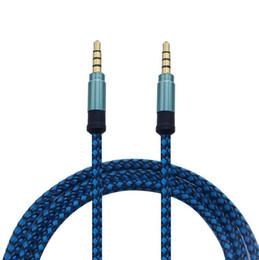 Tessitura in tavoletta online-3.5mm intrecciato tessuto AUX cavo audio 150CM stereo maschio Aux cavi di prolunga audio per telefoni cellulari MP3 Tablet