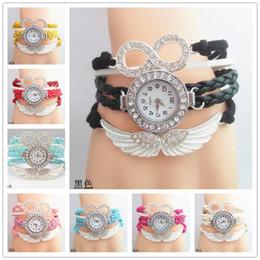 Canada Ange Ailes Infinity Montre De Mode Déclaration En Cuir Bracelet Bracelet Montre Montres Charme numéro 8 montre-Bracelet Montres Femmes Quartz Montres cheap statement watches Offre