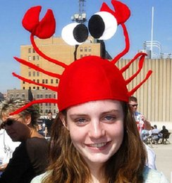 Wholesale Red Seafood - Creative Holiday Party funny headdress crab seafood lobster crab adult children Christmas Christmas gift