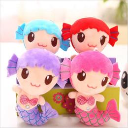 Wholesale Princess Plush - Wholesale- 1 PCS Cute Sea-maid Supple lovely Mermaid Princess Stuffed Crystal Toys Baby Girls Plush Dolls Toys