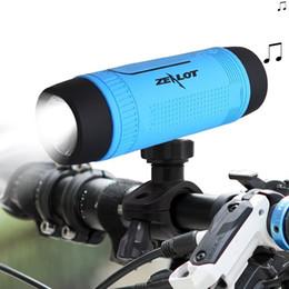 Wholesale S1 Flashlight - New Portable Wireless Waterproof Bluetooth Speaker with Power bank And Flashlight Multifunctional Sport Speaker Zealot S1 VS Pulse Speaker