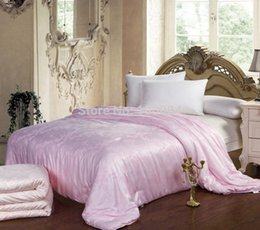 Wholesale Silk Fill Quilt - Wholesale-100% silk quilt,200*240 king size 100% mulberry silk comforter bedding,king queen size mulberry silk quilts,3.5kg silk filled