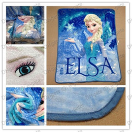 Wholesale Corduroy Wholesale - Free DHL shpping Frozen Elsa Raschel Blanket frozen Dairy queen elsa adventures Frozen anime raschel blankets NEW 2014 HOT IN STOCK 5pcs lot