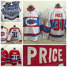 Wholesale Montreal Canadiens Cheap Hockey Jerseys - 2016 Winter Classic Cheap Men's Montreal Canadiens Jerseys #31 Carey Price Jersey Home Red White Stitched Ice Hockey Jerseys