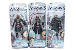 Wholesale Assassins Creed Action Figure - 2016 New 3Pcs Action figure Assassins Creed Assassins's game doll Edward Canvey Cosplay New in Orginal Box Free Shipping
