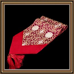 Wholesale Wedding Table Runners Burgundy - Stylish Luxury Patchwork Table Runners Chinese style Dining Table Pads Damask Pattern High End Table Cloth for Wedding Party Festival Decor