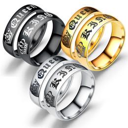 toque o rei dos homens Desconto 2017 Nova Moda DIY Casal Jóias Seu Rei e Sua Rainha Anéis de Casamento Em Aço Inoxidável para Mulheres Dos Homens