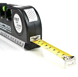 Wholesale Vertical Horizon - Wholesale-Free Shipping Level Laser Aligner Horizon Vertical Measure Tape 8FT 030317