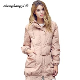 Wholesale Down Coat Black For Women - Women Outdoor Down Jacket Winter Thick Warm 2016 Windproof White Duck Down Coat Stand Collar Parkas For Womens Jackets And Coats
