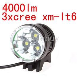 scheinwerfer führte freies verschiffen Rabatt 4000 Lumen 3x XM-L T6 LED Scheinwerfer Fahrrad Fahrrad Licht Wasserdichte Taschenlampe + 6400mah Batterie Pack Kostenloser Versand