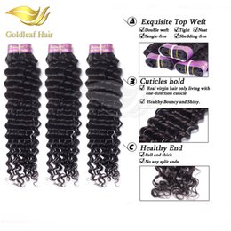 Wholesale Sell Bundle Hair - Hot Selling Brazilian Virgin Hair 3 Bundles Deep Wave Human Hair Peruvian Malaysian Indian Weave Mink Brazilian Deep Curly Virgin Hair