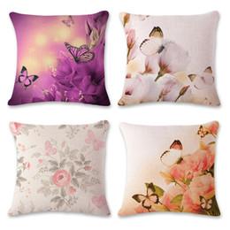 Padrão de travesseiro de borboleta on-line-Borboleta bonito Impresso Capa de Almofada Decorativa Fronha de Poliéster / cottonSquare Throw Pillow Cover Casa Têxtil