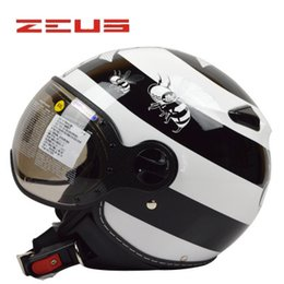 Wholesale Helmet Momo - Wholesale-Free shipping Motorcycle Motorbike motorcross Vintage Jet helme, open face 3 4 half helmet MOMO style helmet, yellow bee