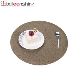 Wholesale Pvc Tablecloths - Wholesale- BalleenShiny Round Coasters Plate Pad Slip-resistant PVC Table Mat Placemat Dining Table Decor Heat Insulation Mat Tablecloth