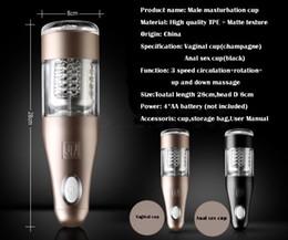 Sex-maschine männlichen masturbator online-Automatische Elektrische Masturbator Maschine für Männer Teleskop Rotation Masturbation Cup Sex Vagina Anal Sex Toys Sex Produkte