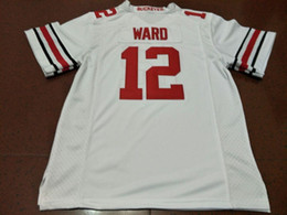 Men  12 Denzel Ward Ohio State Buckeyes College Jersey white red black  Personalized S-4XLor custom any name or number jersey ohio state football  jersey xxxl ... bc845c78e