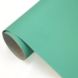 Wholesale Matte Carbon Fiber Sticker - 1.52x2m(5x98ft)PVC car paint protection film Matte Flat Tiffany blue Aqua Turquoise blue Vinyl free bubble