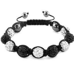 Wholesale Shamballa Ball Bracelets - Wholesale-10mm can choose color Shamballa Bracelets Gifts Hot Sales Promotion Crystal Disco Ball Shamballa Bracelets & Bangles