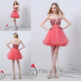 Wholesale Sequin Strapless Cocktail Dress - Latest Elegant Best Sale Real Pictures Party Dresses Strapless Crystal Beaded A-line Mini Short Cocktail Party Homecoming Prom Dresses