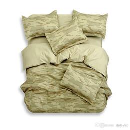 Exército camuflagem 4 pcs conjuntos de cama king size rainha puro algodão adulto Childrens Conjuntos de Cama 4 pcs verde de