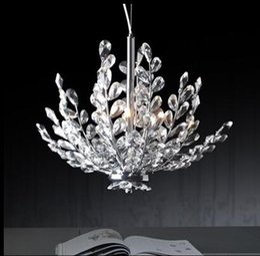 Wholesale Chandelier Floral Iron Crystal - Free Shipping 3 Light Crystal Chandelier Light Floral French Crystal Lustre Light Cristal Suspension Hanging Lamp MD2367