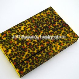 Wholesale Leopard Nail Buffer Wholesale - Wholesale-10 PCS High Quality Leopard Nail Art Buffer Block Sanding File Nail Care Tool beauty salon equipment