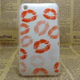Wholesale Back Cover 3gs Iphone - Wholesale-New 2015 Fashion Painting Hard PC Plastic Phone Case For Apple iPhone 3 3G 3GS Shell Back Cover+Screen protector