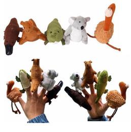 Canada 400pcs / lot enfants marionnettes doux en peluche australien animaux marionnettes marionnettes à main marionnettes marionnettes bébé marionnettes poupées jouets Fedex UPS navire cheap australian animals Offre