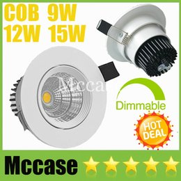 Wholesale cool bathrooms design - Fashion Design COB 9W 12W 15W Dimmable Non LED Downlights CRI>88 Tiltable Fixture Recessed Ceiling Down Lights Lamp + Power Supply CSA UL