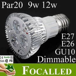Wholesale Indoor Led Ceiling Bulb - Dimmable 9W 12W LED Spotlight Ceiling Lights Lamp E27 PAR20 Gu10 Warm Coo White LED Bulb E27 For Home Indoor Lighting Decoration CE UL SAA