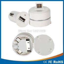 Wholesale Kit Eu Usb Iphone - 1 set CN 3 in 1 kit charger 1 pcs EU Plug +1pcs Car charger +1pcs data USB Cable Kit for iPhone 4 4S 3GS 3G iPod Touch