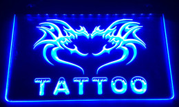 Wholesale Lighted Tattoo Sign - LS013-b Tattoo Open Neon Light Sign