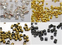 Wholesale Silver Plate End Beads - 2500pcs Silver Plated Tube Crimp End Beads Findings 1.5mm
