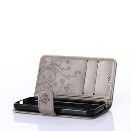 Wholesale S3 Mini Wallet Phone Covers - Embossing Process Cover for Samsung Galaxy S3 Mini Leather Case Flip Wallet Phone Case Card Holder Function