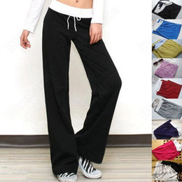 Wholesale Women Loose Lounge Pants - 2014 new arrival brand Ladies Girls Women Basic Track Casual Long Pant Lounge Gym Sports Sweat WF-207