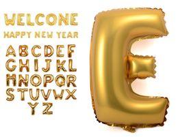 Wholesale New Years Celebration - BIG Aluminum foil balloons membrane English letters wedding New Year celebration Christmas holiday balloon birthday party QU6