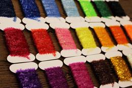 Приманка онлайн-Tigofly 24 цвета нахлыстом мишура синель кристалл флэш-линия нимфы стримеры приманки изготовления летучих материалов