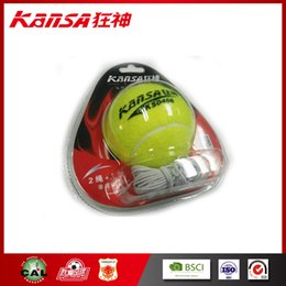 Wholesale Tennis Seller - 2017 Best seller Sports & Outdoors 1 PC Tennis Balls Kansa-0466 Hot Sale Branded Logo Tennis Ball With Elastic String Wholesale price